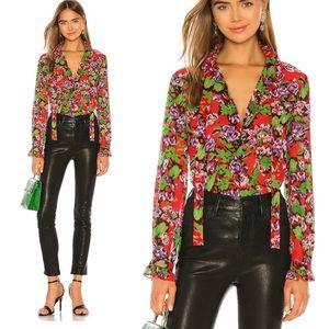SALONI georgette silk blouse 8